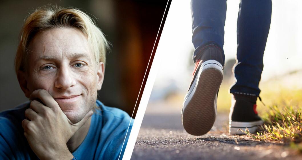 Anders Hansen och promenerande fötter.