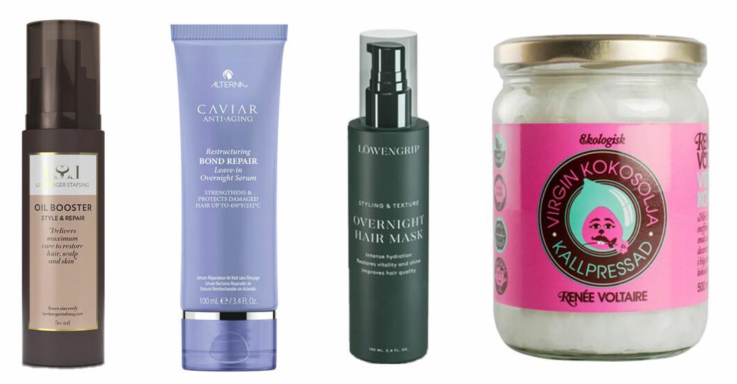 Produkter för hårvård under natten