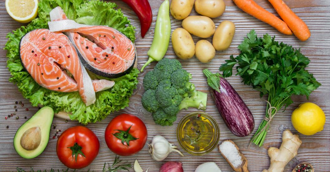 Hälsosamma vitaminer i mat
