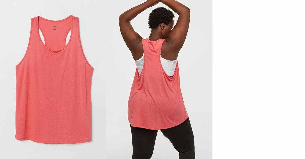 Träningslinne från H&M i luftig modell med brottarrygg. Sytt i återvunnen polyester.