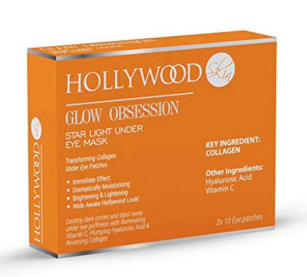 ögonmask som ljusar upp. Från Hollywood Glow Obsession star light under eye mask