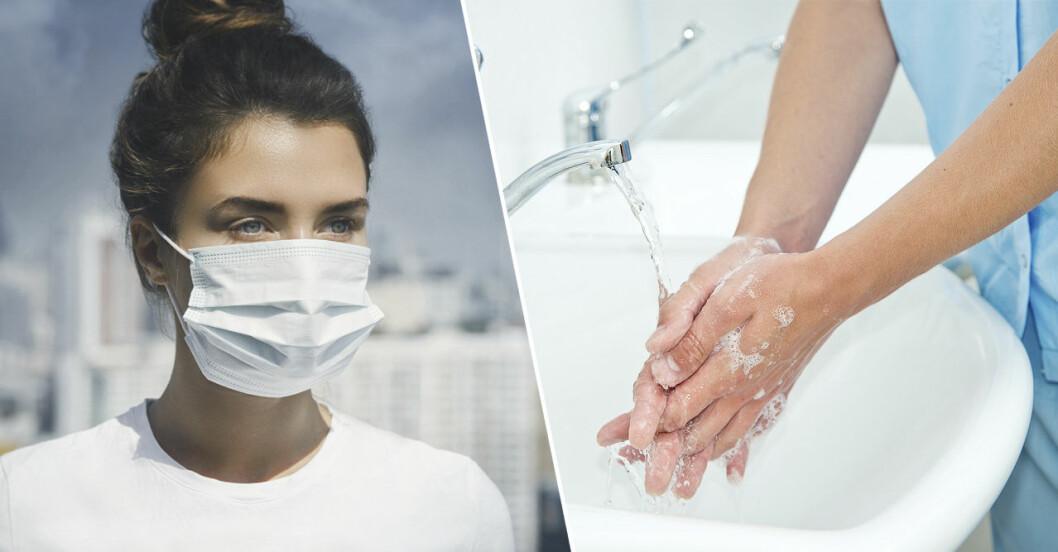 Infektioner hindras med god handhygien – inte munskydd.