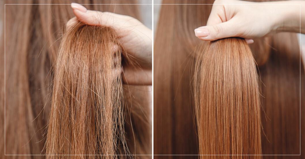 före- och efterbild på hår