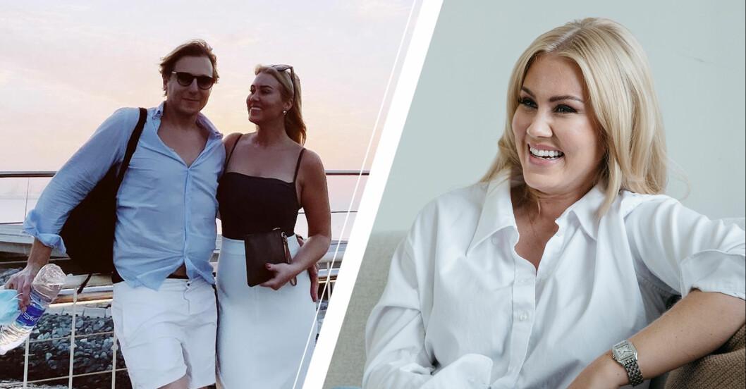 Vänster: Paul Sundvik och Isabella Löwengrip ser lyckliga ut. Höger: Isabella Löwengrip i vit skjorta.