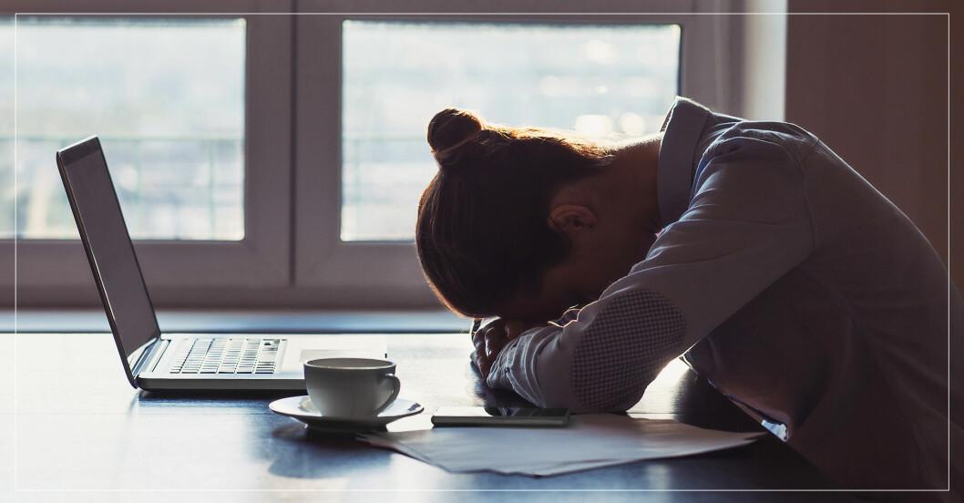Kvinna som är trött.
