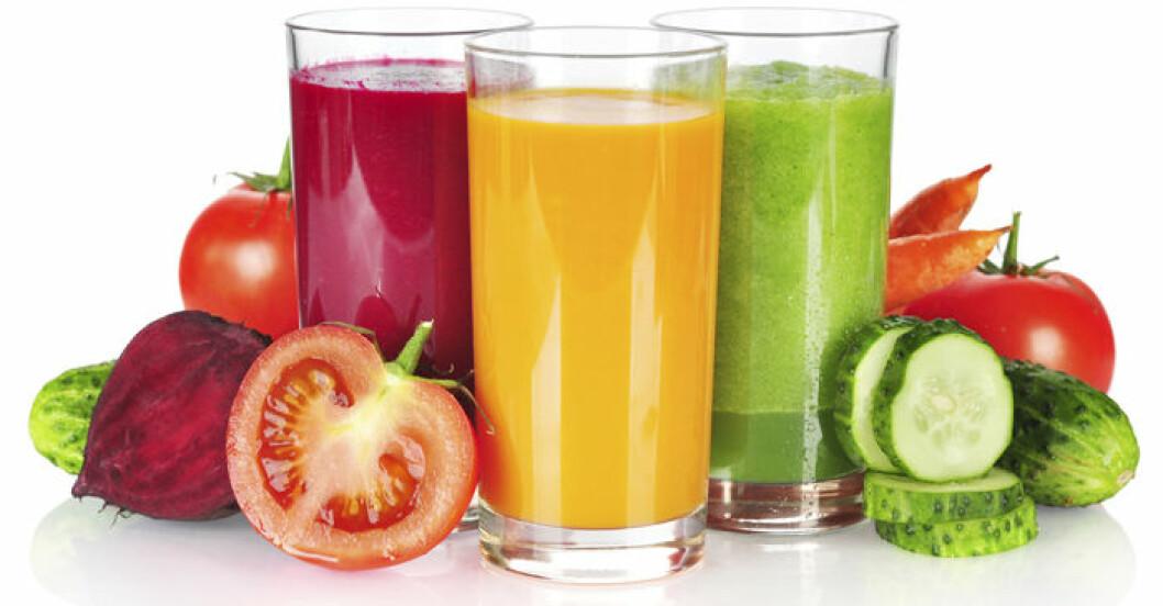 Färskpressad juice innehåller mängder av vitaminer och antioxidanter.