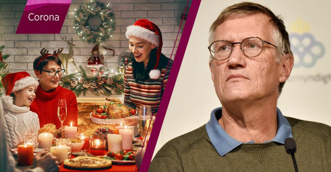 julfirande familj och Anders Tegnell.