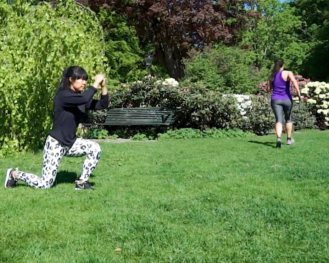 jumping lunges och sprint – HIIT-övningar