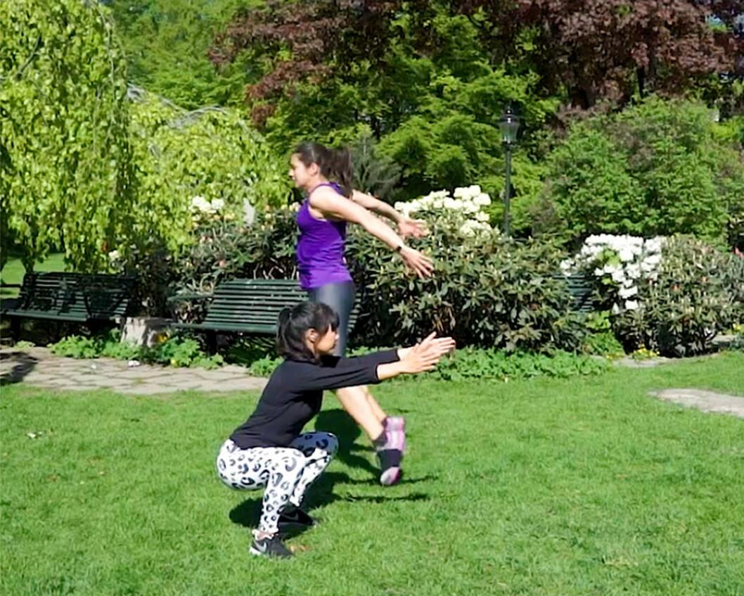 Jumpsquat och statisk squat – HIIT-övningar