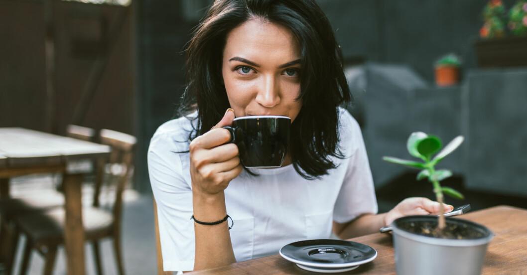 Tecken på för mycket kaffe.
