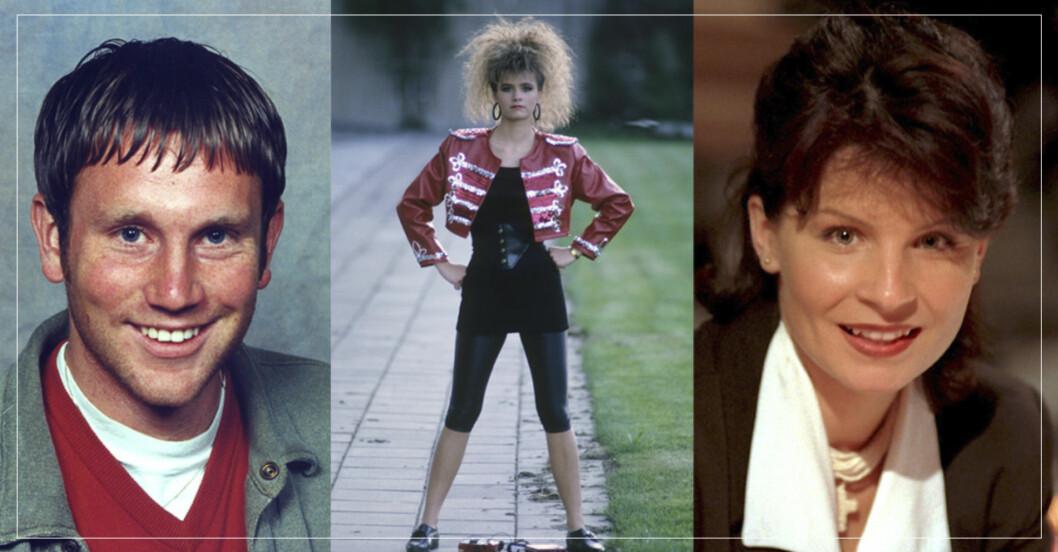 Peter Jihde, Lena Philipsson och Carola i gamla frisyrer