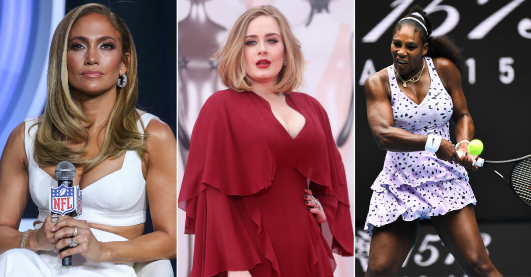 Jennifer Lopez, Adele och Serena Williams