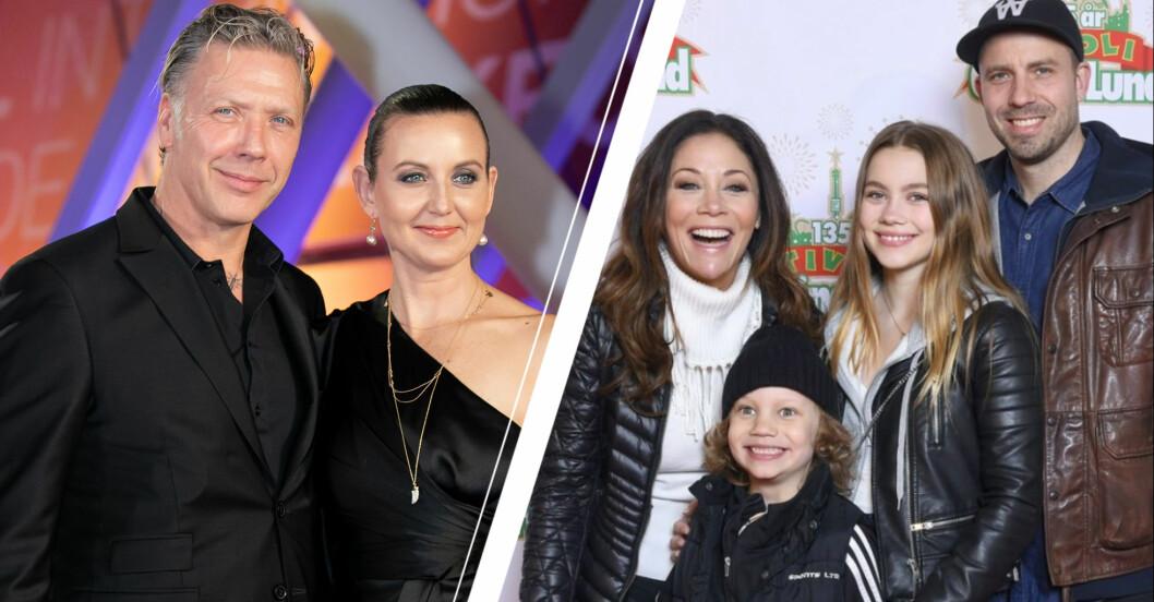 Mikael Persbrant och Sanna Lundell och Tilde de Paula med sin familj
