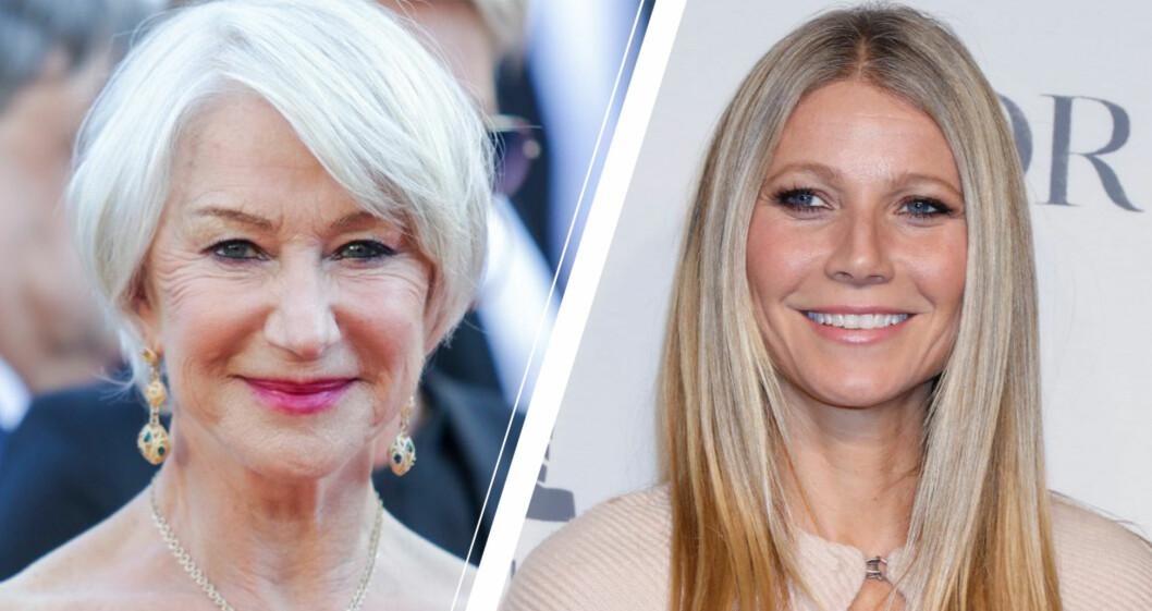 Helen Mirren och Gwyneth Paltrow om sitt gråa hår.