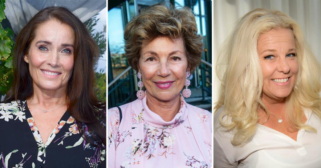 Agneta Sjödin, Amelia Adamo och Mia Parnevik är några av kvinnorna i programmet.
