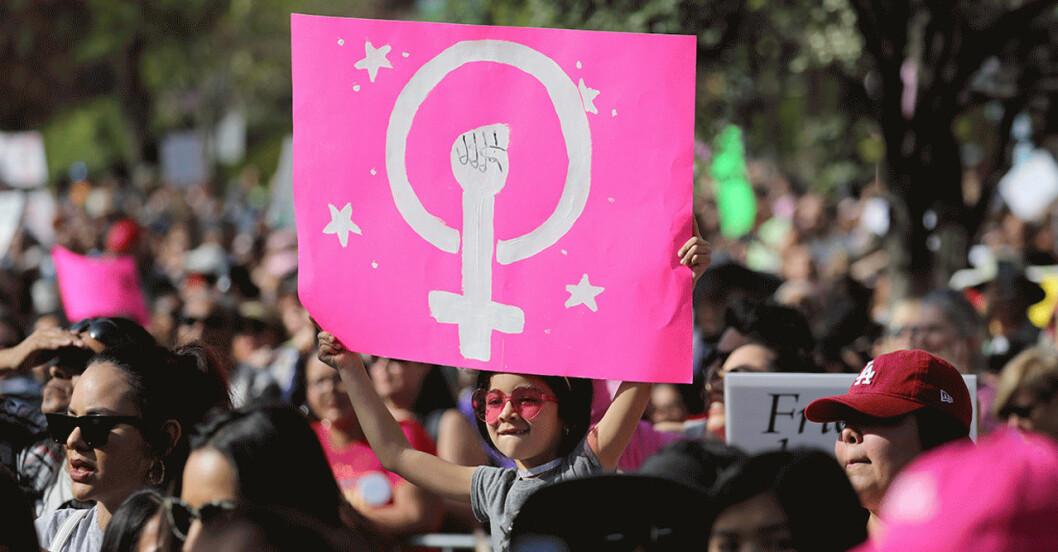 Demonstration på kvinnodagen