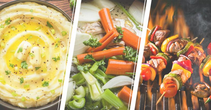 Grönsaker som tillagats så de blivit mindre nyttiga