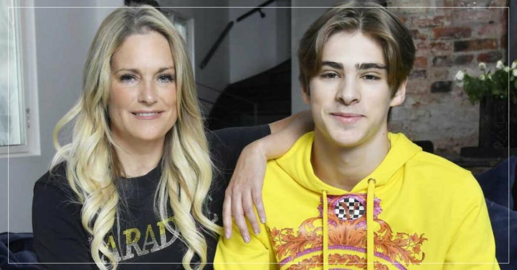 Laila Bagge och sonen Liam