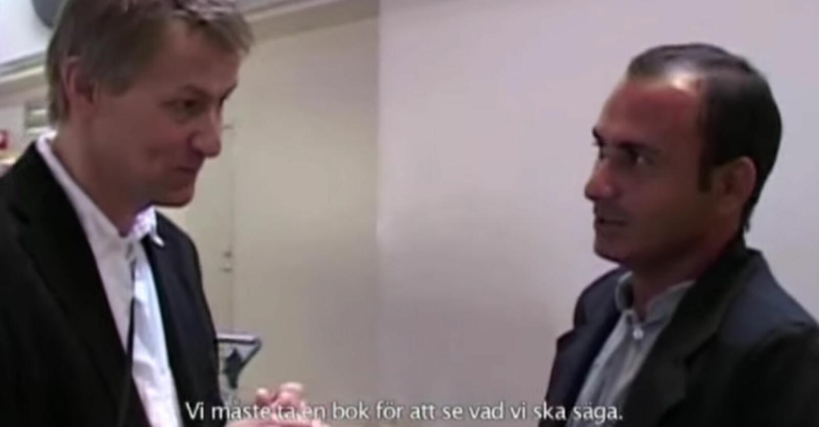 lars lerin och junior träffas för första gången på Arlanda.