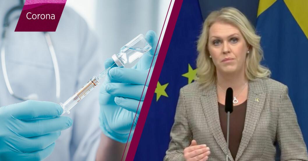 """Lena Hallengren: """"Vi har säkrat coronavaccin för hela Sveriges befolkning"""""""