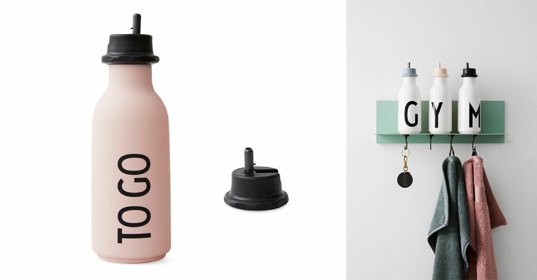 Hållbar flaska i giftfri plast med sportlock.