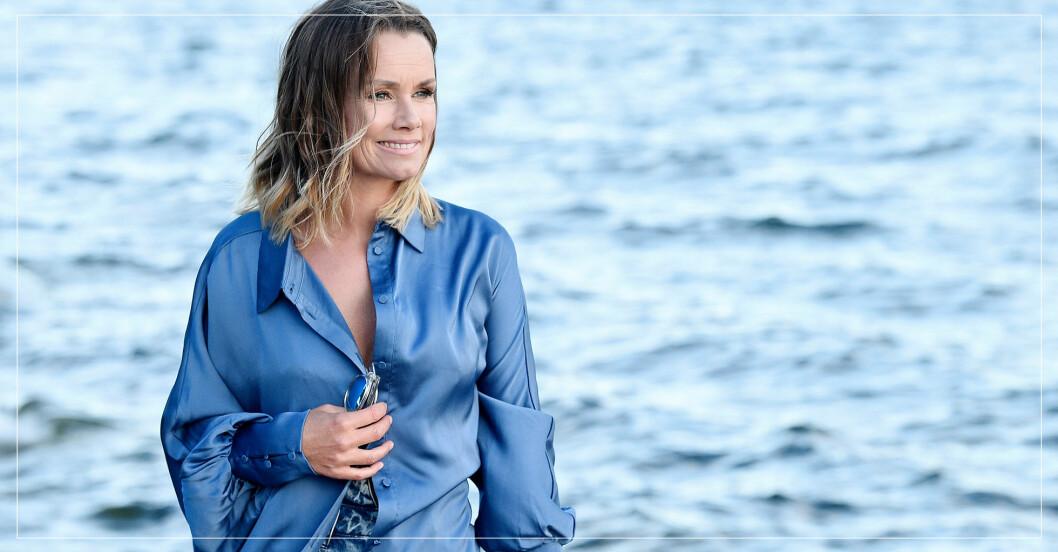 Linda Bengtzing vid havet
