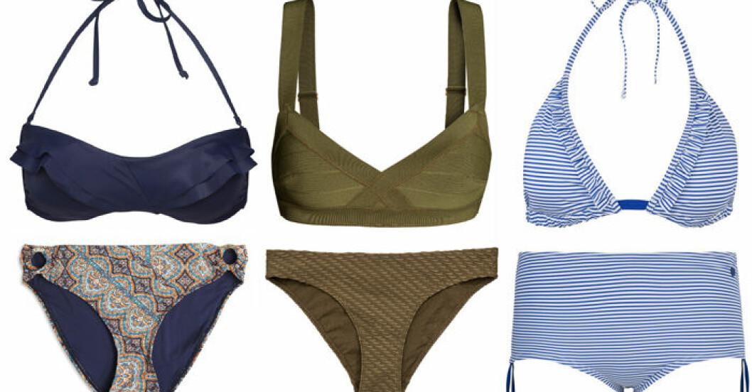 Bikinis för liten byst från Lindex, H&M och Twilfit.