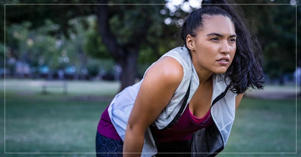 kvinna som tränat