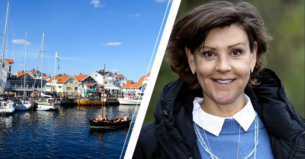 Lottie Knutsson och bild från Smögen.