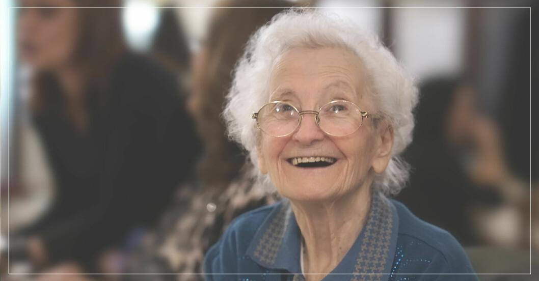 kvinna som levt ett långt och lyckligt liv