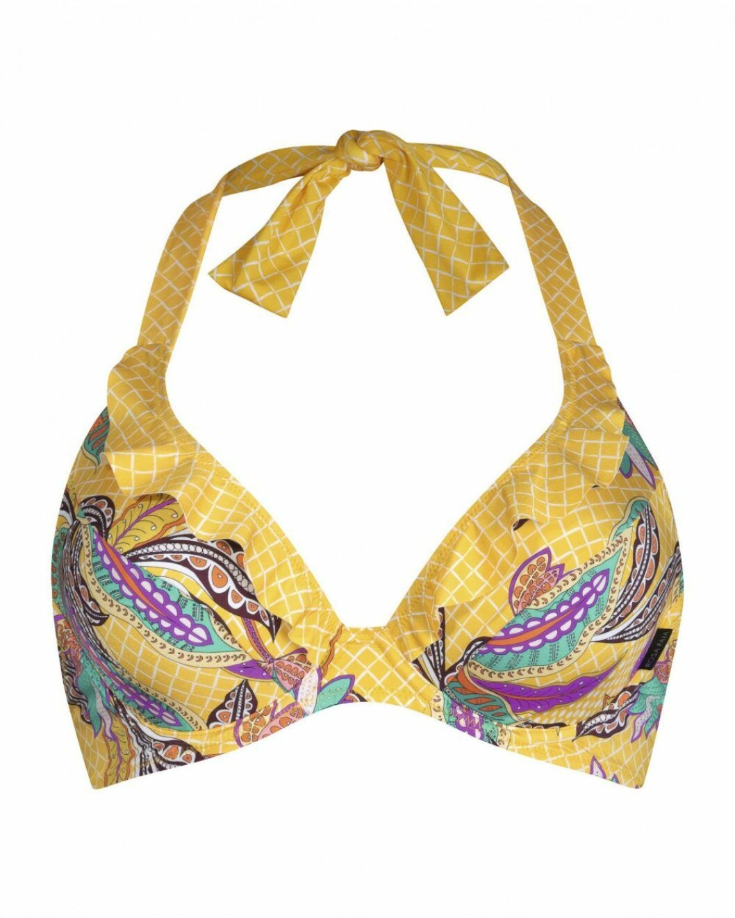 Färgglad bikinitopp från Rosa Faia.