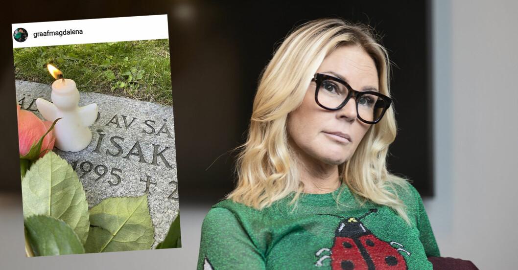 Magdalena Graaf om sorgen efter sonens död.