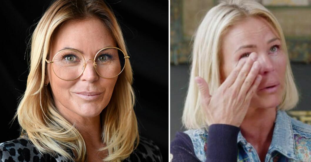Magdalena Graaf i tårar när hon pratar om sonen.