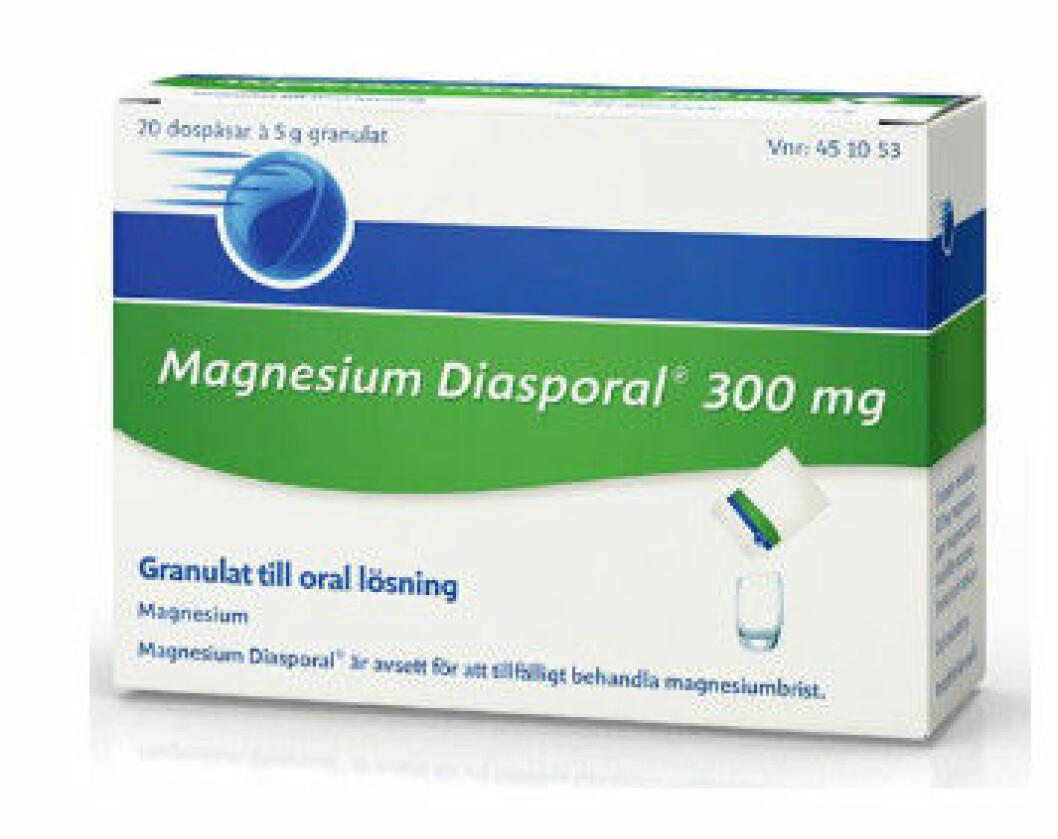 Tillskott av magnesium från Apoteket.