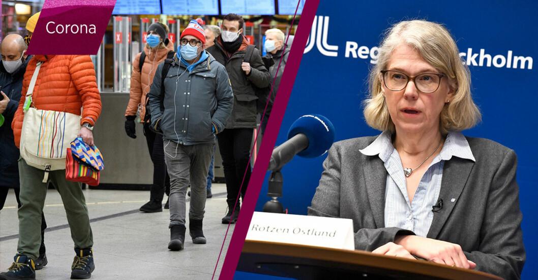 Maria Rotzén Östlund om smittläget i Stockholm.
