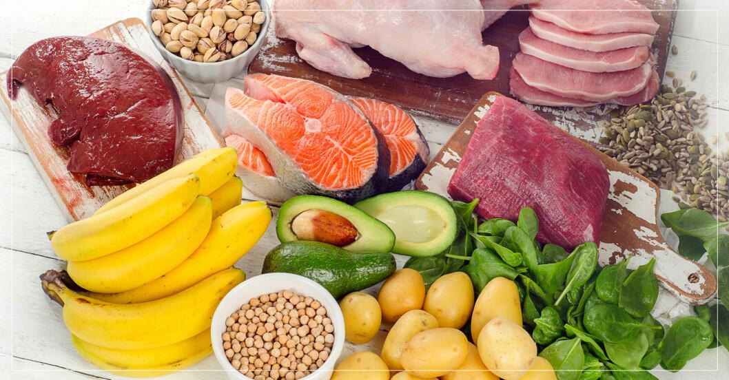 Mat som är rik på B-vitamin.