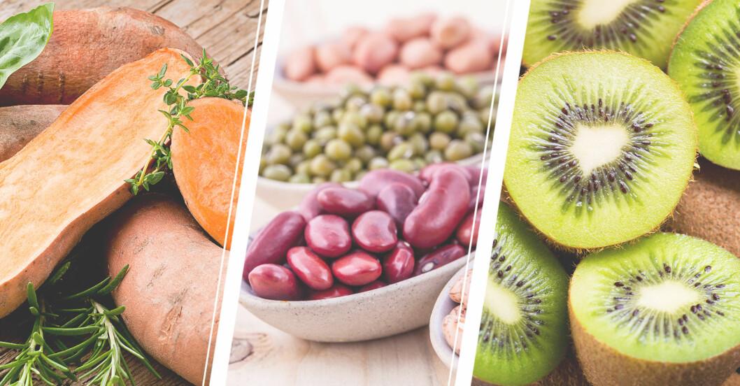 Mat som hjälper oss sova bättre och somna lättare: Sötpotatis, bönor, kiwi