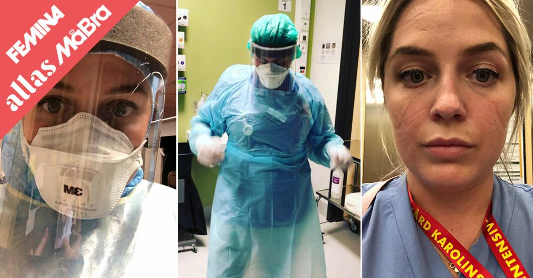 Matilda jobbar som IVA-sköterska under corona