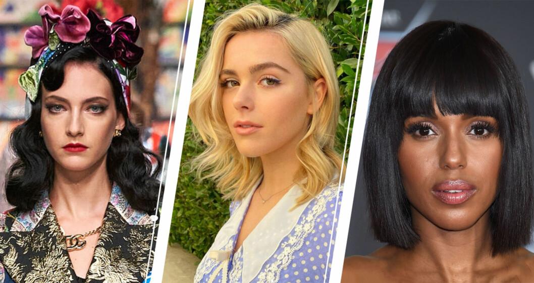 Tre olika frisyrer för halvlångt lår.