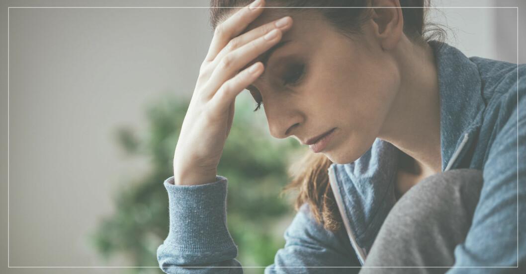 kvinna är deprimerad