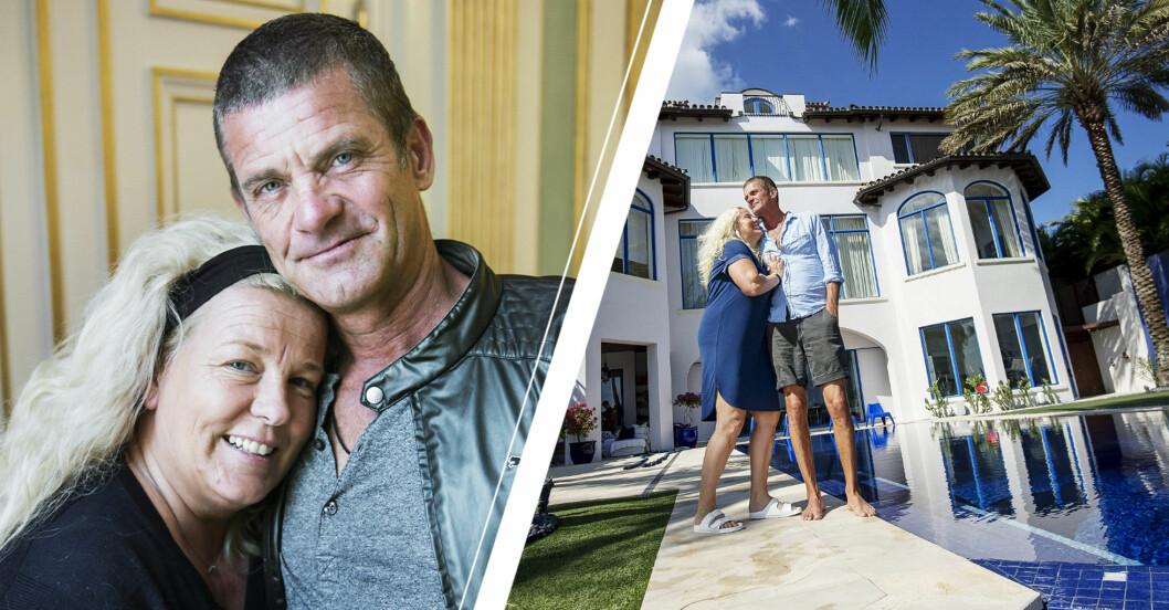 Mia och Jesper Parnevik flyttar från villan i Florida.