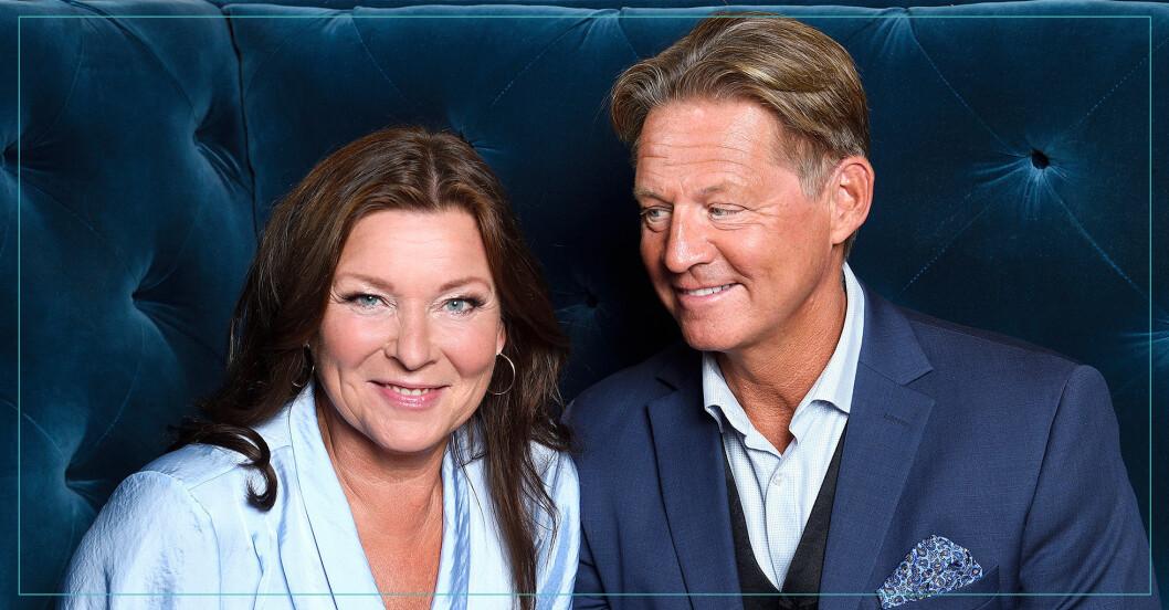 Lotta Engberg och pojkvännen Mikael Sandström