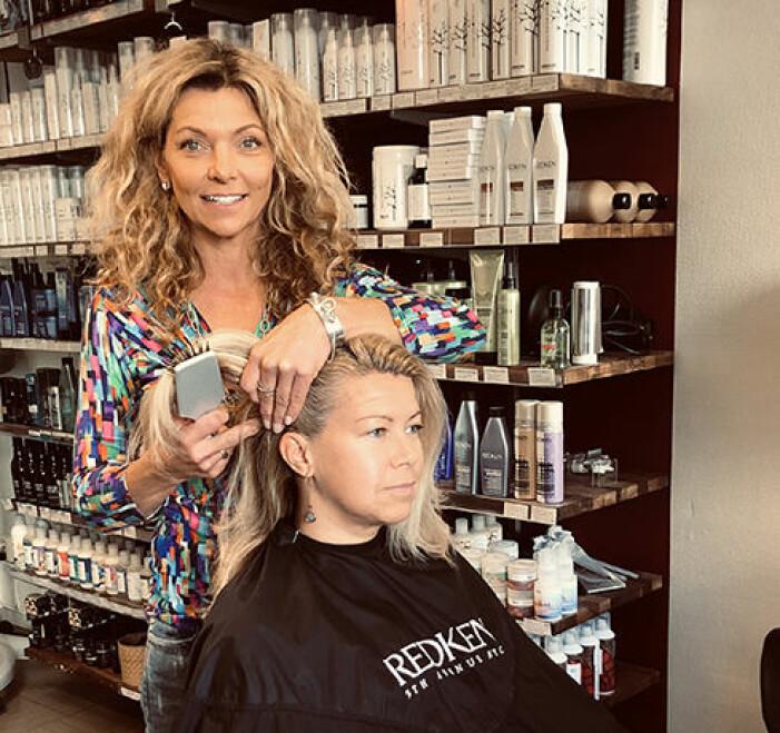 Mirre Dehlin, frisör på Mirres salonger
