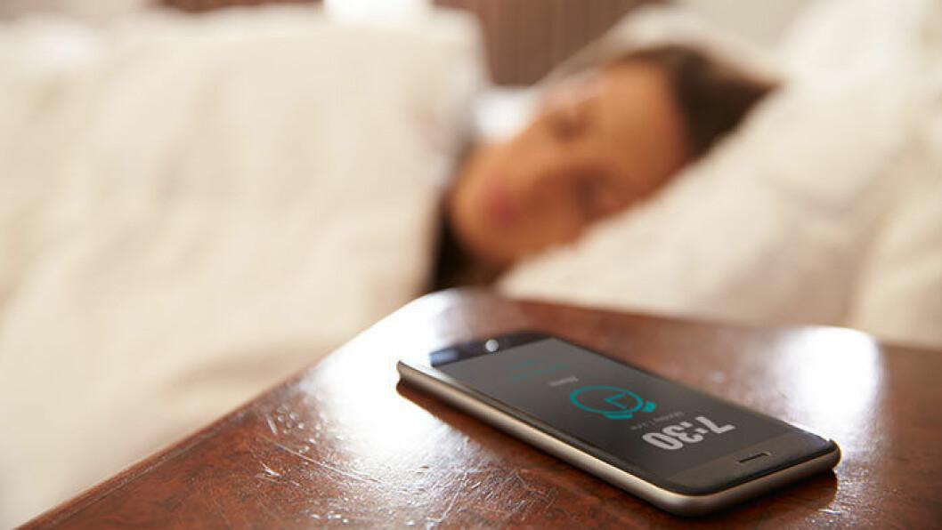 mobil vid sängen