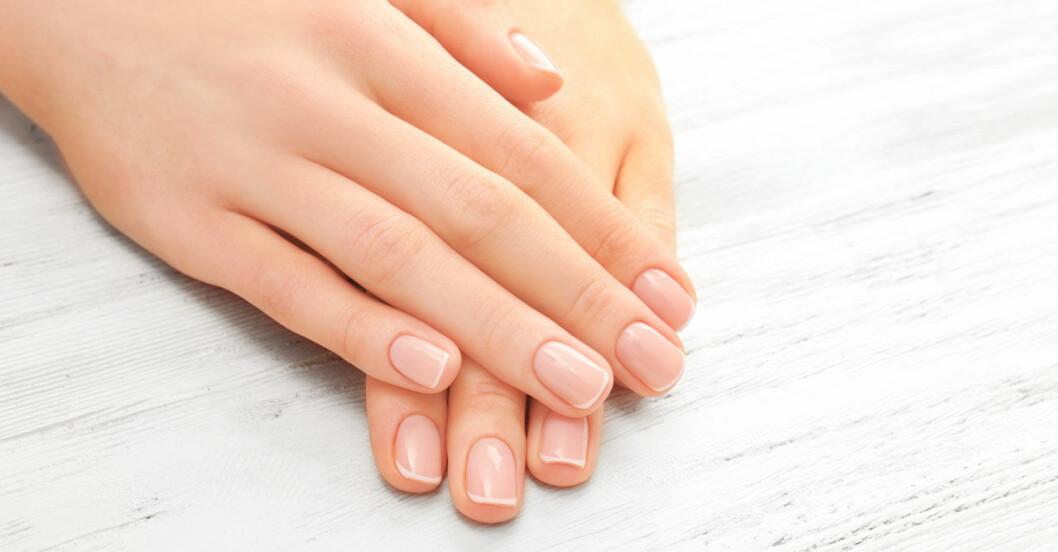 Hand med fina naglar