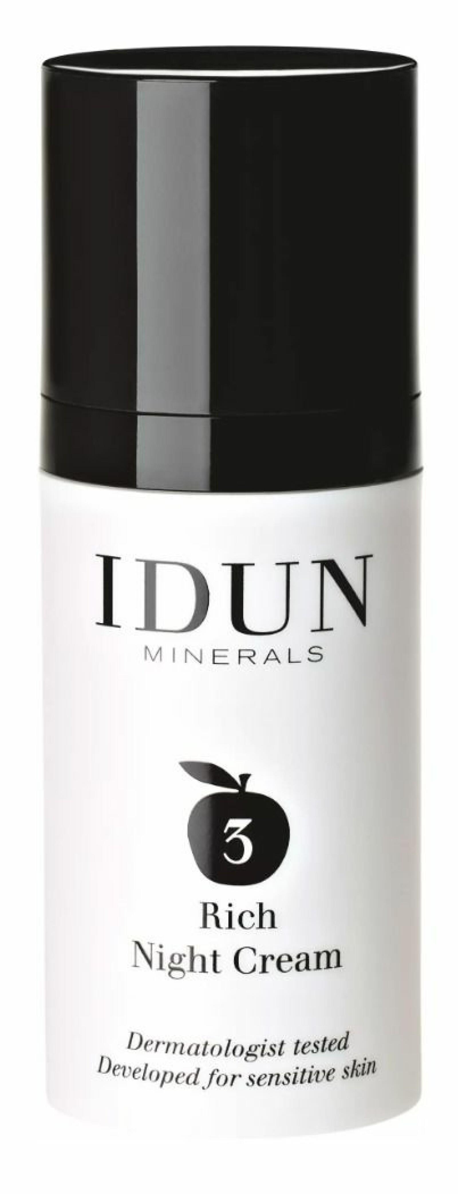 Nattcreme från Idun Minerals.