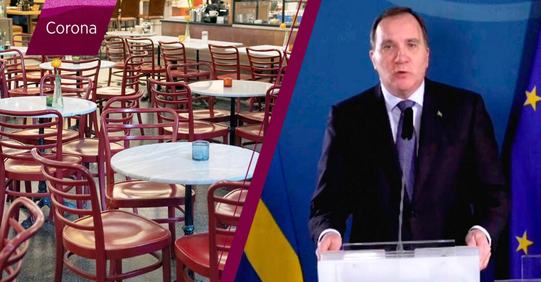 Ny restriktionen: Max 8 personer på allmänna sammankomster