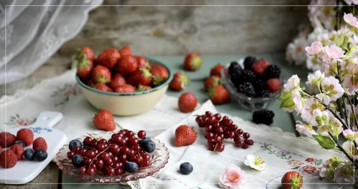 Jordgubbar, blåbär, tranbär