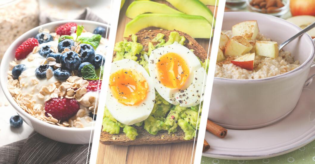frukostar med bra kolhydrater