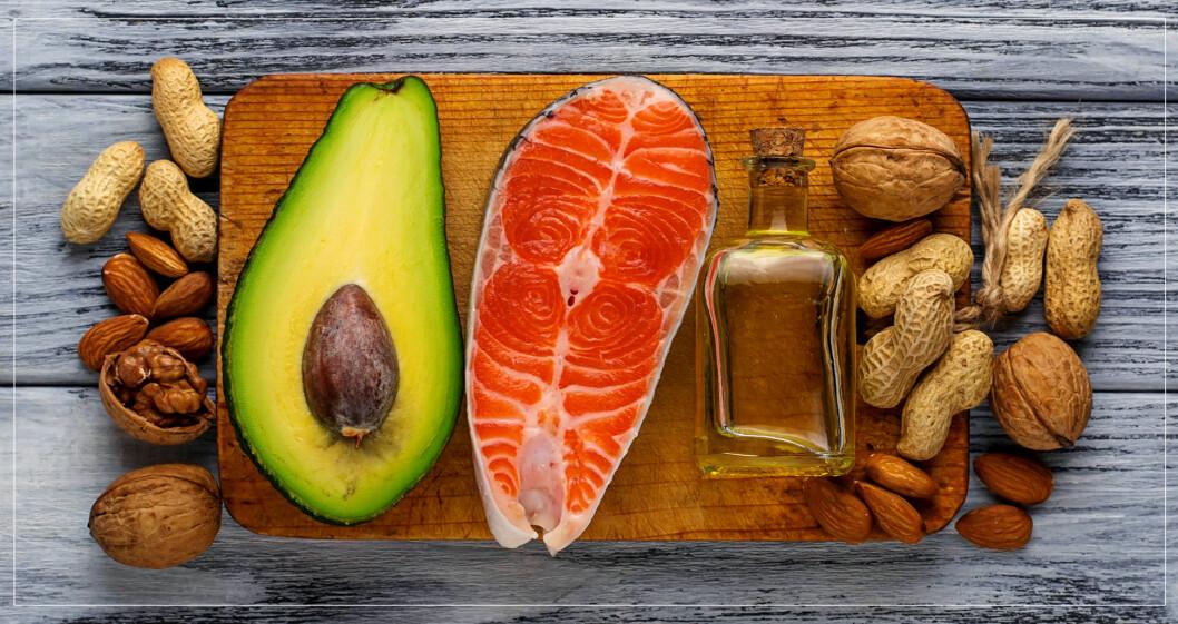 Nyttigt fett är en viktig del i kosten.